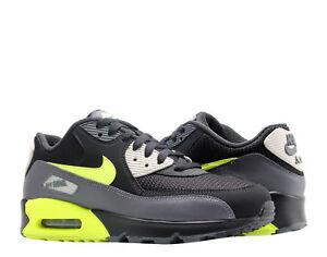 newest 815c4 1f15e Image is loading Nike-Air-Max-90-Essential-Dark-Grey-Volt-