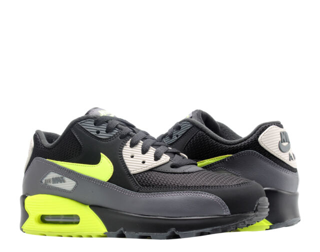 8e697c0c6e Nike Air Max 90 Essential Dark Grey/Volt-Black Men's Running Shoes AJ1285-