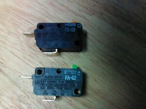 Details about 2 GE General Electric Interlock Micro Switch for Microwave on