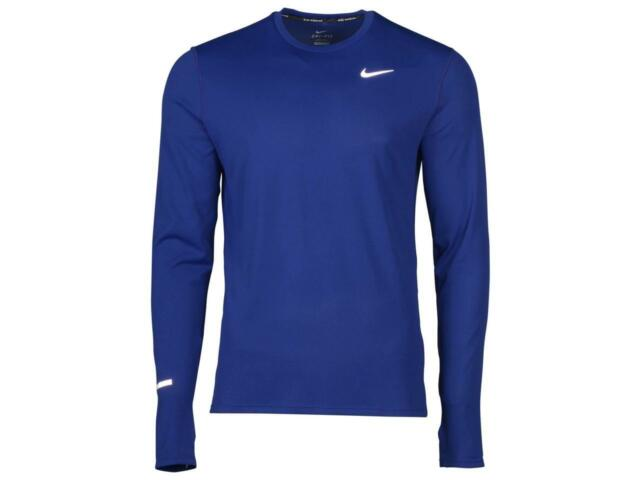 6d70c98d6022 SZ M AUTHENTIC Nike Men s Dri-Fit Contour LS Running Shirt Blue 874618-455