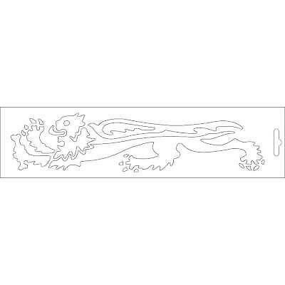 Adhesivo leon blanco lado izquierdo - 23 cm 33 9756