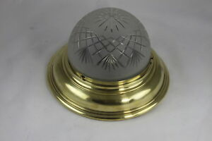 Plafonniere Messing Glas : Große jugendstil lampe deckenlampe plafoniere messing ebay