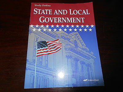 STATE AND LOCAL GOVERNMENT  Abeka History  homeschooling student workbook