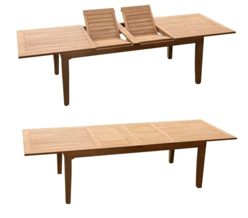 DSSL A-Grade Teak 13pc Dining Set Caranas Rectangle Table Reclining Arm Chair
