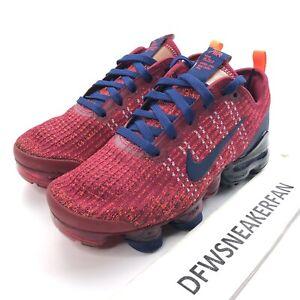 Nike-Vapormax-Flyknit-3-GS-Men-s-5Y-Women-s-6-5-Red-Blue-Shoes-BQ5238-602-New