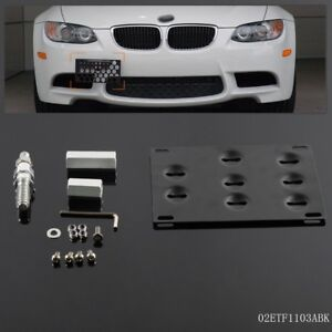 2014 2013 5 Series E39 1995-2003 X5 E70 2007 Tow Hook License Plate Bracket For BMW 1 Series 128i 135i 1M 2008 09 10 11 2012 3 Series Sedan Coupe 325i 328i 330i 335i M3 2006 2013 X6 E71 2008