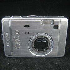 Pentax Optio S40 4.0 MP Megapixel Silver Digital Camera Point & Shoot 3x Optical
