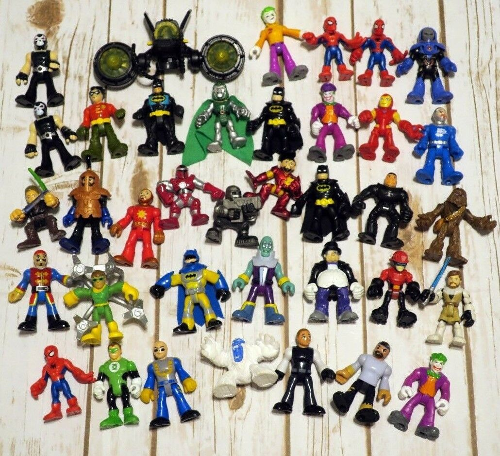 Huge Fisher Price Imaginext Lot - DC Comics Marvel Star Wars Batman Spiderman