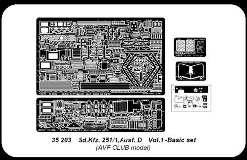 Kfz  251//1 Ausf D for AFV CLUB KIT 1//35 ABER 35203  UPGRADE SET for GERMAN Sd