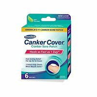 5 Pack - Dentek Canker Cover Medicated Mouth Sore Patch, 6 Count Each on sale