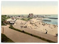 2 Victorian Views of Gorleston Norfolk Beach Old Photos Pictures Photochroms NEW
