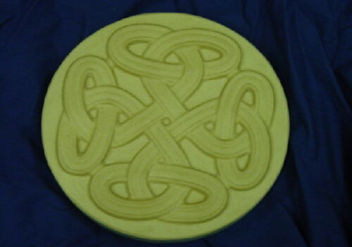 Round Celtic Stepping Stone Plaster or Concrete Mold 1198 Moldcreatons