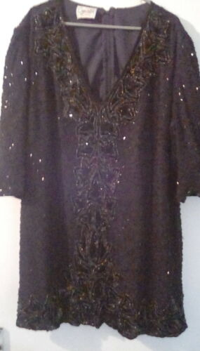 tr Silk Sequinned Vintage Pure Top Robe Lyndella wgYqzS