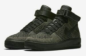 4679eecded5e2 NIKE AIR FORCE 1 ULTRA FLYKNIT MID 817420-301 Palm Green White Men's ...