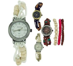 Kahuna-Ladies-Womens-Bead-Bracelet-Toggle-Strap-Fashion-Watch-Xmas-Gift-For-Her