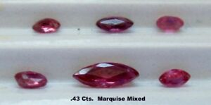 Natural-Mined-Rubies-Mixed-Lot-of-Small-Marquise-TW-43-cts-1-5-5-5-mm-sizes