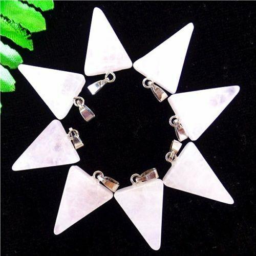 8Pcs Choix Multiple Mixte Gemstone Agate Triangle Pendentif Perles 22x15x5mm ET1648