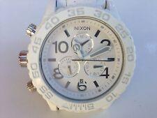 "Nixon Minimize 42-20 Wrist Watch White Stainless Steel Band ""@""LOW PRICE ""L@@K"""