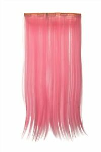 Postiche-Extension-Large-Cheveux-5-Clips-Lisse-Rose-Clair-YZF-3177-TF2317