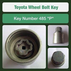 """Nut Key 489 /""""V/"""" Genuine Toyota Locking Wheel Bolt"""