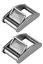 2 x Canopy Webbing Buckle Stainless Steel Boat Webbing Adjuster Buckle,