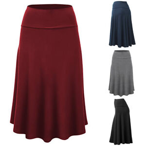 75532607b5aa85 Women Plus Size Vintage Dress Flare Hem High Waist Swing Pleated ...