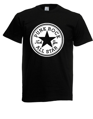 Herren T-shirt Punk Rock All Star