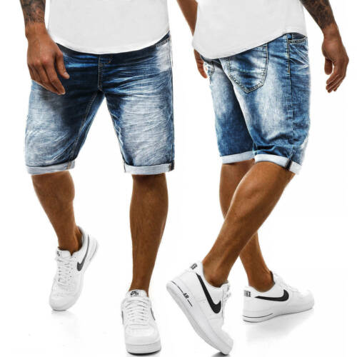 Pantaloni corto Shorts Pantaloni Jeans Bermuda Jeans Classic Casual Uomo OZONEE s//2669