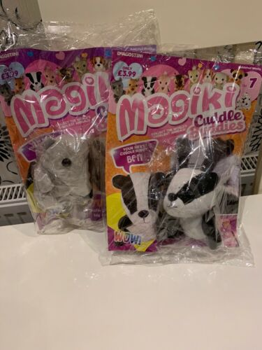 Magiki ~ Cuddle Buddies DeAgostini X2 Badger /& Anteater Soft toys