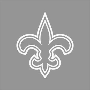 New-Orleans-Saints-NFL-Team-Logo-1Color-Vinyl-Decal-Sticker-Car-Window-Wall