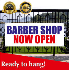 Barber Shop Now Open Banner Vinyl Mesh Banner Sign Beauty Salon Hair Shave Cut