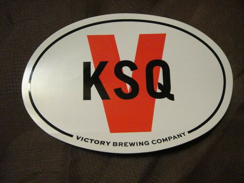 VICTORY BREWING Company BEER Kennett Square PA Brewpub Oval Sticker