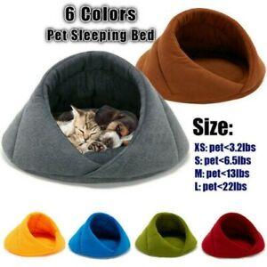 Weich-Warm-Fleece-Welpe-Haustier-Katze-Hund-Nest-Kennel-Hoehle-Bett-Haus-Schlaf