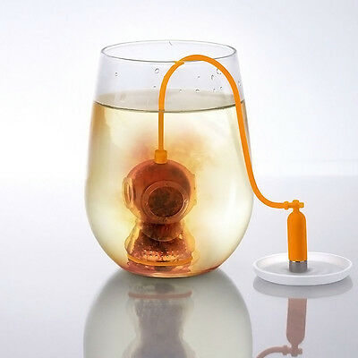 1 xDeep Diver Tea Infuser Loose Tea Leaf Strainer Herbal Spice Filter Diffuser
