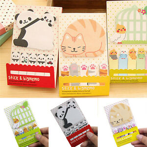 Animal-Cat-Panda-Cute-Kawaii-Memo-Sticky-Notes-Planner-Stickers-Paper-Book-S6