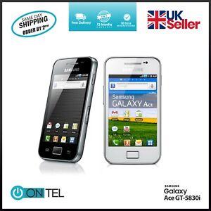 🔥 BRAND New Samsung Galaxy Ace GT-5830i-BLACK WHITE-3G-Unlocked Mobile Phone 🔥
