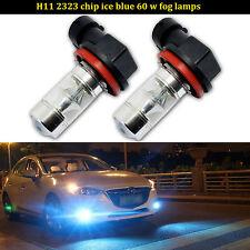 2x Ice Blue H11 H8 High Power 8000K Samsung 2323 LED Bulbs Driving Fog Light DRL