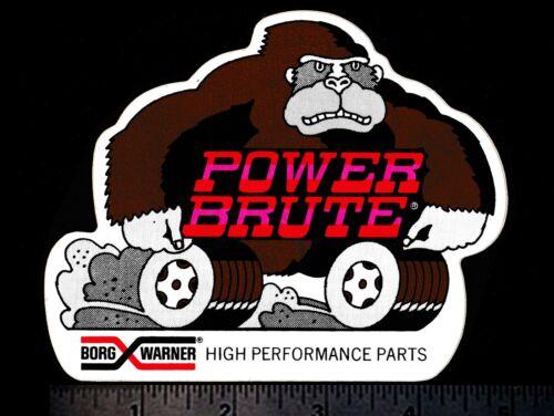 BORG WARNER Power Brute Original Vintage 1960/'s 70/'s Racing Decal//Sticker