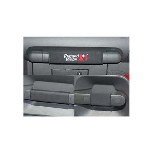 Black Door Grab Cover Kit 4Door for Jeep Wrangler JKU 2007-2010 Rugged Ridge