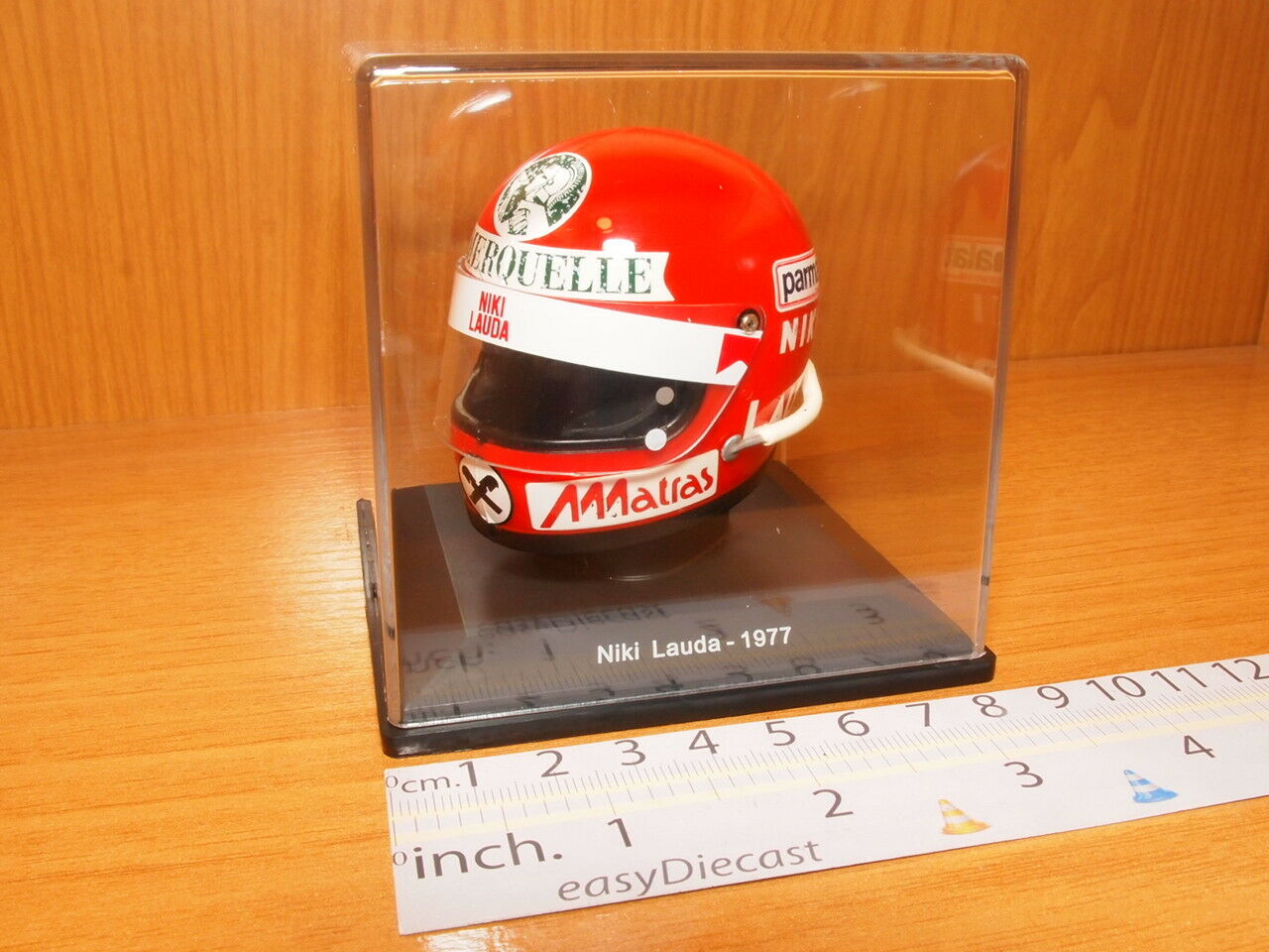NIKI LAUDA 1977 HELMET 1 5 F1 PARMALAT CASQUE CASCO FORMULA 1 ROMERQUELLE