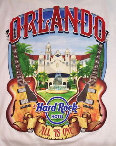 Hard-Rock-Hotel-ORLANDO-2018-WHITE-City-Tee-T-SHIRT-Sm-2X-ALL-SIZE-Mens-NWT-V17