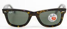 New Genuine Ray Ban 2140 902/58 Tortoise Polarized Wayfarer Sunglasses 50mm