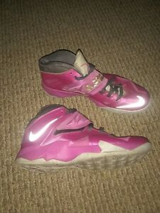 c7c1b0d68b2 NIKE LEBRON ZOOM SOLDIER VII THINK PINK BREAST CANCER MENS Sz 10