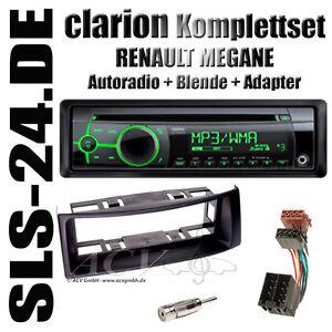 renault megane scenic autoradio set kfz radio blende schwarz iso antenne adapter ebay. Black Bedroom Furniture Sets. Home Design Ideas