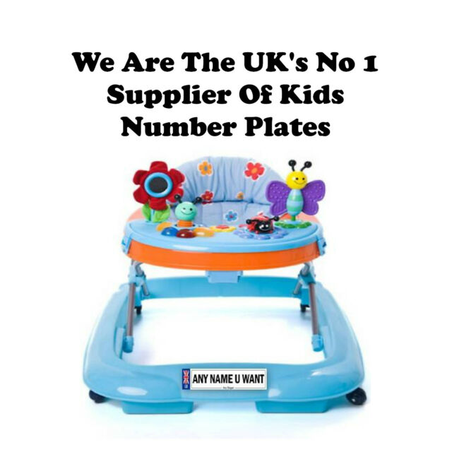 PERSONALISED NUMBER PLATE FOR BABY WALKERS