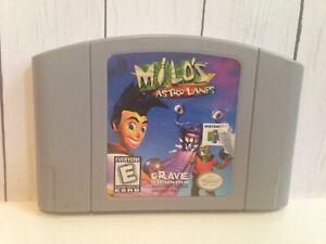 Milo-039-s-Astro-Lanes-Nintendo-64-1998-vintage-n64-video-game-1996-97-bowling