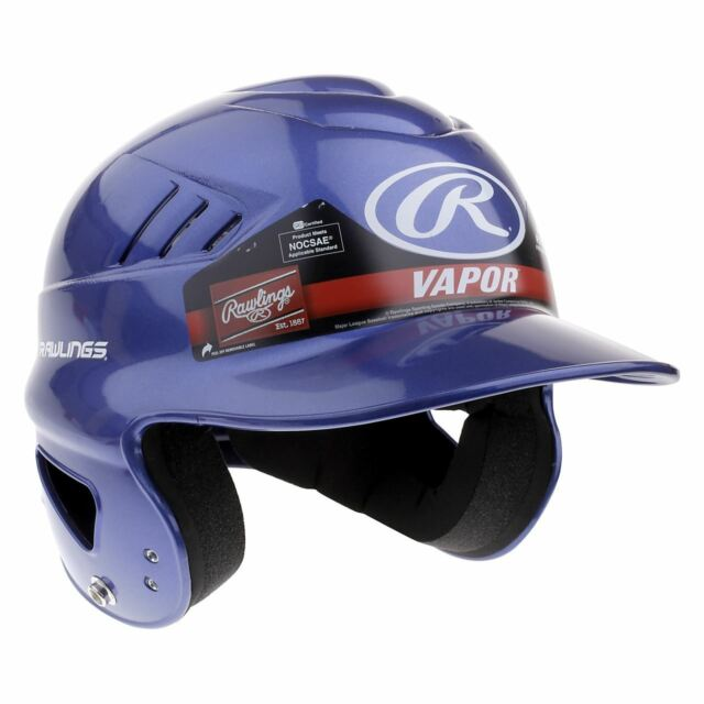 f730f65a07d98a Frequently bought together. Rawlings Vapor Blue Batting Baseball Helmet Head  Protection All Leagues Sports