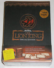 Disney The Lion King (DVD, 2003, Gift Box w/Book and Signed Drawings) NEW