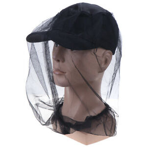 Fabric-45-45cm-Midge-Mosquito-Insect-Hat-Bug-Mesh-Head-Net-Face-Protec-IY