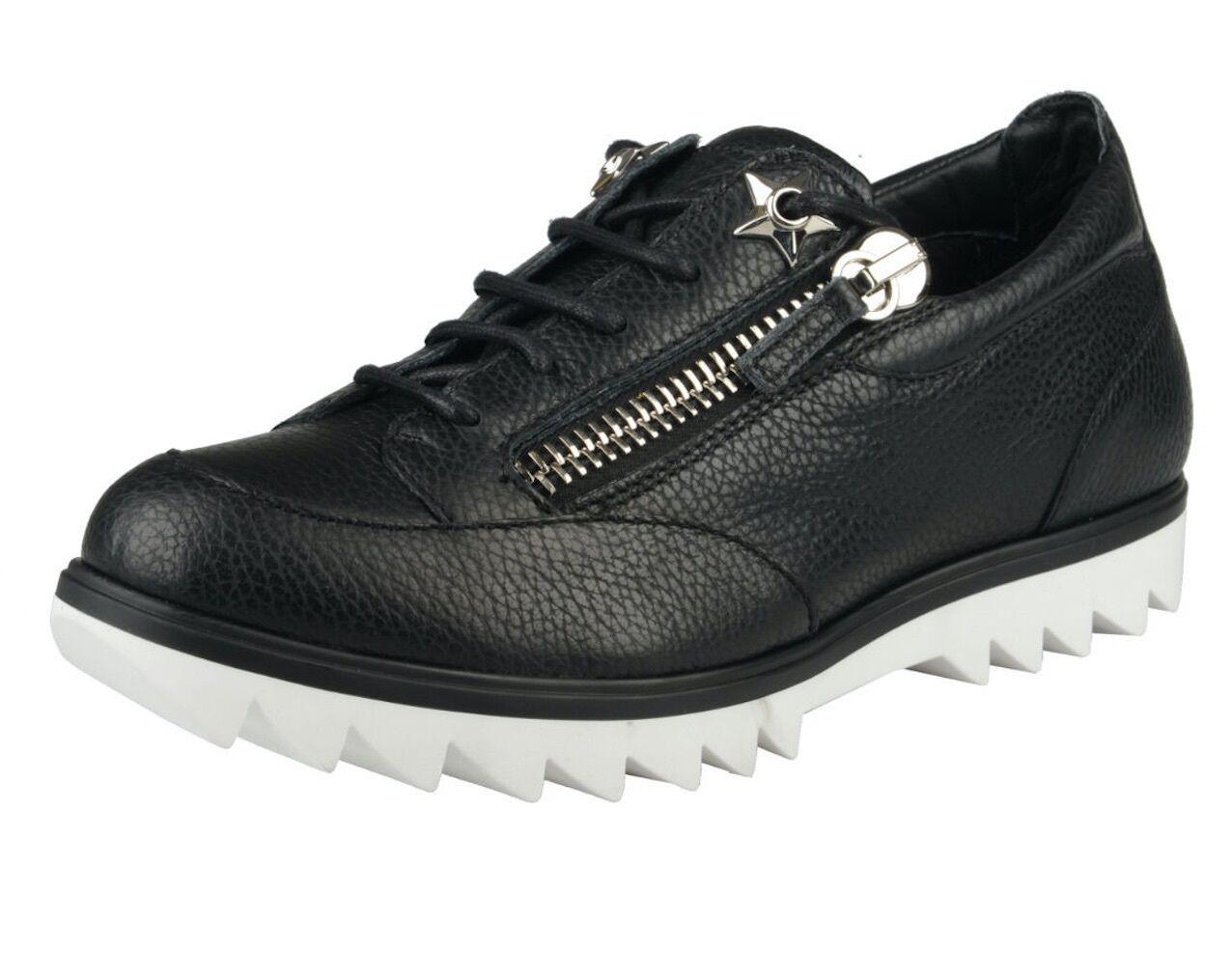 Giuseppe Zanotti Toky SC femmes Lindos-vagues en cuir noir fashion Baskets sz. 6